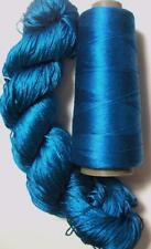 100% Reeled Mulberry Cobweb Silk Lace Yarn Skein Azure 147 Lot g 50 gram 400 Yd