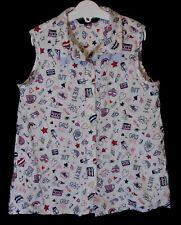 Girls George White Red Graffiti Slogan Unicorn Heart Shirt Blouse Age 9-10 Years