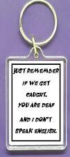 KEYRING FUNNY Humorous Key Ring Raise a Laugh Joke Perfect Gift FRIENDS MATES