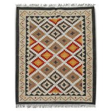 Indian Handmade Kilim Dhurrie Hand Woven Kelim 4x6 Turkish Oriental Area Rug