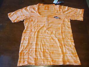 Antigua Broncos women shirt.  Style: Intent   Color: light orange   Size: Medium