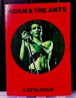 ADAM and The Ants Catalogue 1976-80 UK magazine Ten pages. VGC. Bivouac.