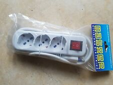 3 pz. Multipresa elettrica ciabatta Master 3 uscite con interruttore