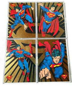Return Of Superman complete set + GOLD FOIL Insert 4 CARD SET in BINDER