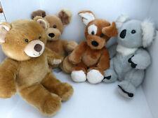 Build a Bear Bab Birthday Musical Bear Koala Dog Floppy Ear Plush Lot of 4 Euc