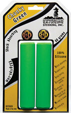 GREEN ESI 32mm Chunky Silicone MTB Bike Grips Shock Absorbing 130mm MADE IN USA