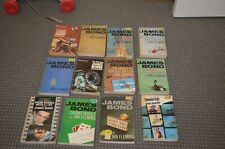 pan james bond paperbacks  12 total 1960/70s