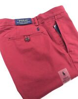 Polo Ralph Lauren Chinos Men's Stretch Slim Fit Holiday Red Bedford Pants
