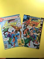 ACTION COMICS #510 and #511 starring SUPERMAN with Luthor & Team-Up! DC 1980