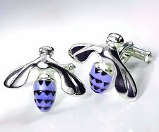Bee Cufflinks, Sterling Silver.925, Enamel. Retail-$320.00 G.DANILOFF&CO.USA