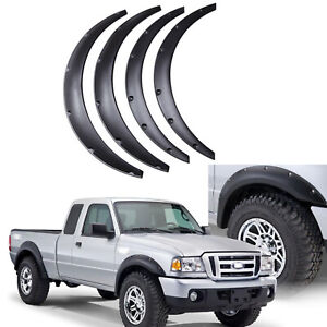 4x 4.5'' For Ford F750 Flex Fender Flares Extra Wide Body Kit Wheel Arches US