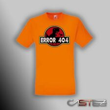 Camiseta error 404 dino jurassic park internet friki freak ENVIO 24/48h