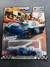 Hot Wheels Gjt68-grl96 Corvette Z06 Drag Racer Blue Metallic Boulevard 1 64