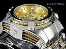 Invicta Reserve Bolt ZEUS Swiss Quart Gold Dial Gold Tone Cable Bracelet Watch