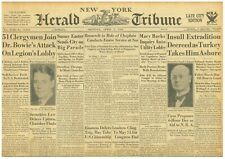 DILLINGER BONNIE CLYDE - HITLER PLIGHT OF JEWS NY CARNEGIE 4-1934 April 2 INSULL