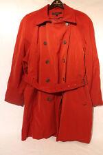 ANNE KLEIN Double Breasted Red Raincoat/Trench/Tie Around Waist Womens Sz XL-B35