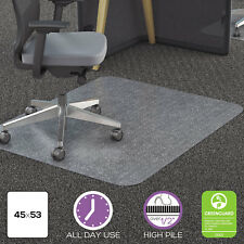 Deflecto Clear Polycarbonate All Day Use Chair Mat for All Pile Carpet 45 x 53