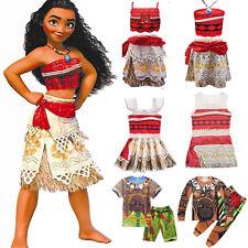 Moana Maui Kid Boy Girls Outfits T-shirt Pants Cosplay Costume Fancy Dress Party