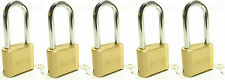 Lock Brass Master Combination #175LH (Lot of 5) Long Shackle Resettable Secure