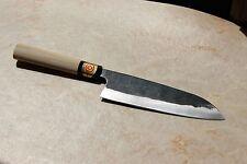 Sakai Japanese Kitchen Knives: Yoshihiro Kurouchi Carbon Steel: Santoku Knife
