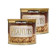 Kirkland Signature Super Extra Large Peanuts Roasted & Salted 2.5 Lbs - 2 Pack