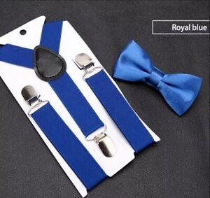Kids Children Baby Adjustable Braces Suspenders with Bow tie Wedding Party