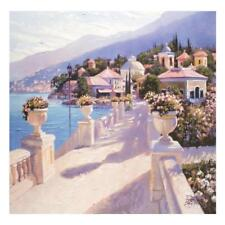 "Howard Behrens ""Bellagio Promenade II"" LED Hand-Embellished, Gicle/Canvas. COA."