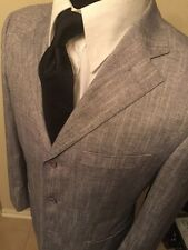 Giorgio Armani Men's Blazer Sport Coat Wool Silk Size 36 US/46 EUR Black Label