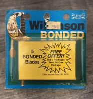 *Vintage Wilkinson Sword 5 Bonded Safety Razor Blades NOS 1979 Rare HTF
