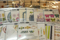 Sizzix Thinlits & Triplits:Flowers/Birds/Kites/Tags - you choose pack/comb ship