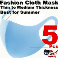 5Pcs Face Masks Covering Clothing Mask Reusable Fashion Cover Stretch Men Women