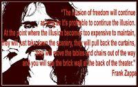 MEN'S T SHIRT tshirt Frank Zappa illusion of freedom conspiracy love music