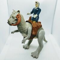Vintage 1980 Star Wars Open Belly TaunTaun w/ Saddle + Hoth Han Solo Figure Lot