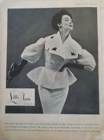 1954 women's Lilli Ann San Francisco suit gloves vintage fashion ad