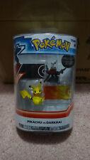 Tomy Pokemon Pikachu vs Darkrai with Attack Tags