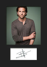 BRADLEY COOPER #2 A5 Signed Mounted Photo Print - FREE DELIVERY