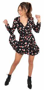 Womens Dress Wrap Printed Paisley Summer V Neck Midi Casual Holiday Beach Wear