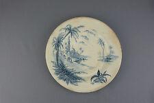 Assiette Céramique de GIEN décor D'Orient Ø 23 époque 1875 état moyen.