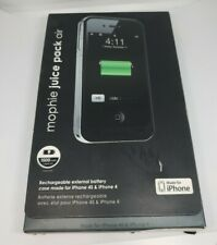 iPhone 4s/4 Battery Case mophie juice pack air - (1,500mAh) -Black  NEW OPEN BOX