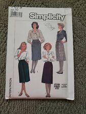 Pattern Vintage 1986 Simplicity Sewing 7679 LADIES Size 10 SKIRT UNCUT