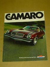 1974 CHEVROLET CAMARO BROCHURE 12 PAGES ORIGINAL! Z28