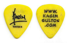 Todd Rundgren Kasim Sulton Signature Concert-Used Yellow Guitar Pick - 2016 Tour