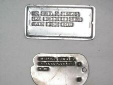 Vintage WWII Dog Tag Notched T-47 & Vintage Store Card Charge Plate Same Name