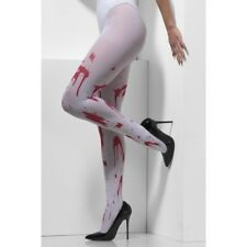 White Tights Blood Spattered Halloween Adults Fancy Dress Costume Accessory One