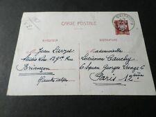 ENTIER POSTAL FRANCE 1942, timbre 515 type HOURRIEZ 1.20 f., voyagé