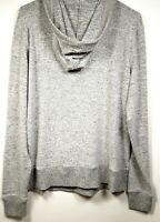 Larry Levine Pullover Sweater with Hood, Women's, Size L, Gray