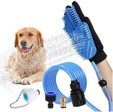 Dog Pet Bathing Grooming Massaging Glove Hair Remover Brush Shower Water Sprayer