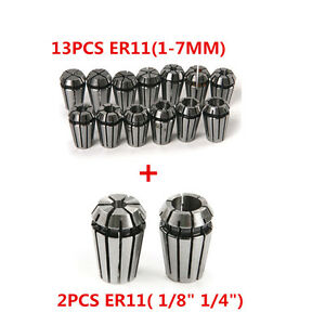 15PCS ER11 Spring Collet Set For CNC Engraving Machine & Milling Lathe Tool DIY