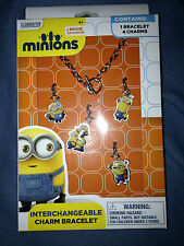 EXCLUSIVE Minions Movie Charm Bracelet With 4 Interchangeable Minion Charms