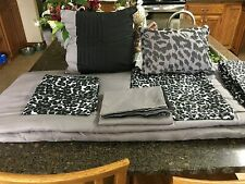 NEW - Black/Grey Animal Print 9 pc Bed Set Reversible King Sized Comforter
